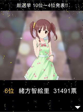 総選挙 6位 緒方智絵里 31491票