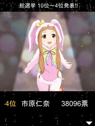 総選挙 4位 市原仁奈 38096票